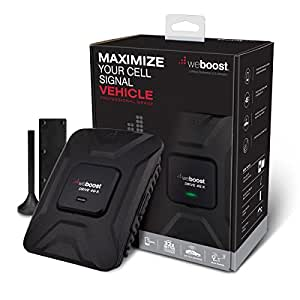 weBoost Drive 4G-X 470510 Cell Phone Signal Booster, Cell Signal Booster for Car & Truck, Boosts 4G LTE Cell Signals – Enhance Your Cell Phone Signal up to 32x.  Can Cover up to 4 Devices