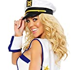 BeautyFou Popular Mens Ladies Womens Sea Marine Sailor Captain Fancy Dress Costume Hat