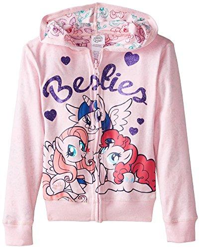 My Pony Girls' Besties Reversible Zip Up Hoodie, Light Pink, 4 -