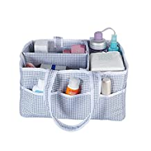 Diaper Stacker and Changing Table Organizer,Businda Portable Nursery Storage Wipes Toys |Portable Car Organizer |Storage bin for Home