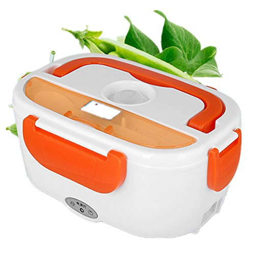 Muicatte 12V Car Electronic Container Food Warmer Heated Lunch Box by Muicatte