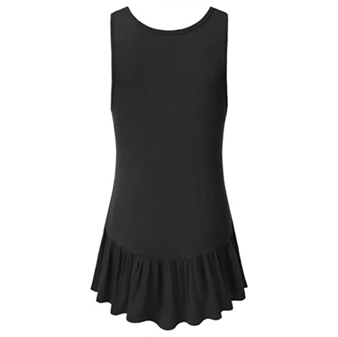 Amazon.com: FORUU womens Tank Tops Tank Tops, Women Casual O Neck Ruffle Loose Comfort Irregular Hem Tunic Crop: Clothing