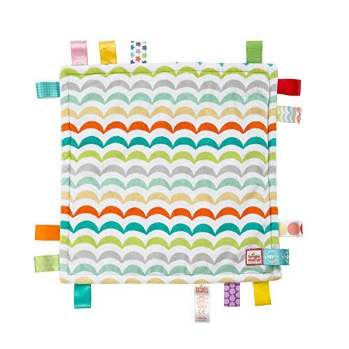Bright Starts Little Taggies 2-Sided Soothing Blankie Take-Along Toy, Newborn + (One Blanket, Design May Vary)