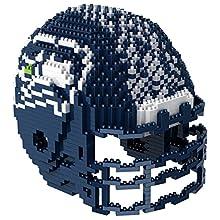 Seattle Seahawks NFL 3D BRXLZ Construction Toy Blocks Set - Helmet