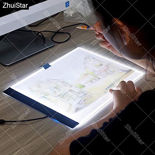 StrongSK - Kit de punto de cruz para pintura de diamantes de imitación (ultrafino, 3,5 mm, tamaño A4, luz LED)