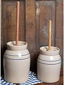 Martinez Pottery 3-Gallon Hand Turned Pottery Butter Churn