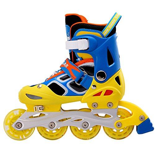 私のインポートウルルPetit Bella(プティ?ベッラ) インラインスケート ローラースケート 子供用 キッズ ジュニア 光るウィール 発光 サイズ調整可能 初心者向け ローラーシューズ