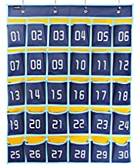Misslo Numbered Classroom Pocket Chart f...