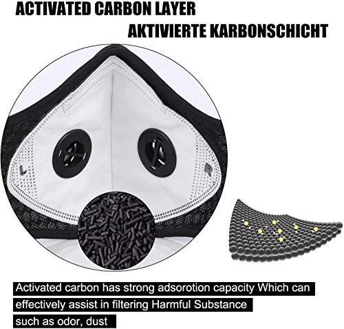DeeLink Outdoor Sport Mask Reusable Activated Carbon