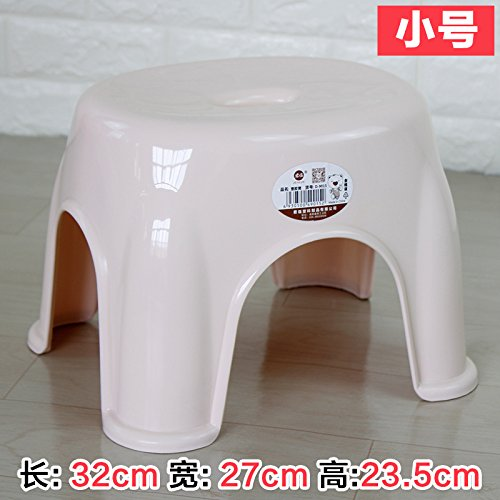 Stool Dana Carrie Home plastic thick small bench dining chairs in other shoe bench plastic plastic, 282223.5CM 2PCS, m White (Dana Dining)