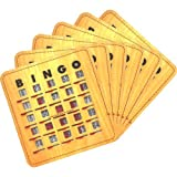 Stitched Finger-Slide Bingo Shutter Card - Woodgrain (100 ct)