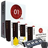 DOT-01 4X Brand Panasonic Lumix DC-GF10 Batteries for Panasonic Lumix DC-GF10 Mirrorless and Panasonic GF10 Battery Bundle for Panasonic BLH7 DMW-BLH7
