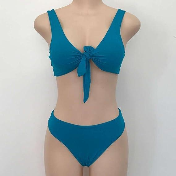 DEELIN Bikini Vendaje De Punto De Mujer Bikini Espesar Sujetador Traje De Playa Traje De BañO: Amazon.es: Ropa y accesorios