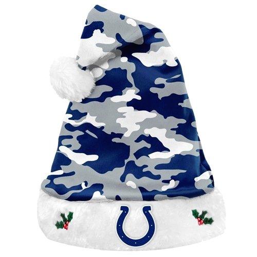 Amazon.com   Indianapolis Colts NFL Team Logo Plush Camouflage Santa Hat    Sports Fan Novelty Headwear   Sports   Outdoors b5353c51b1d