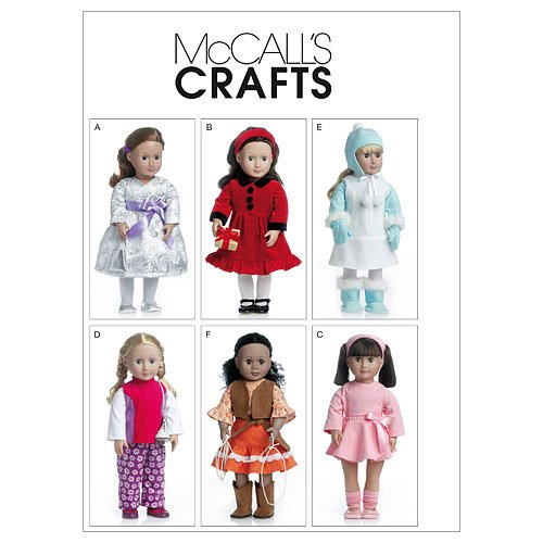 McCall's Patterns M6257 Clothes for 18-Inch Doll, One Size Only