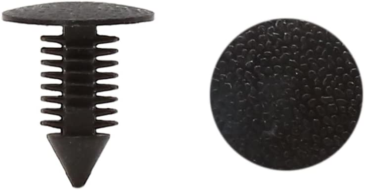 sourcing map 50Pcs Rivet plastique Clips poussoir retenue Trou 9mm Noir Voiture porte