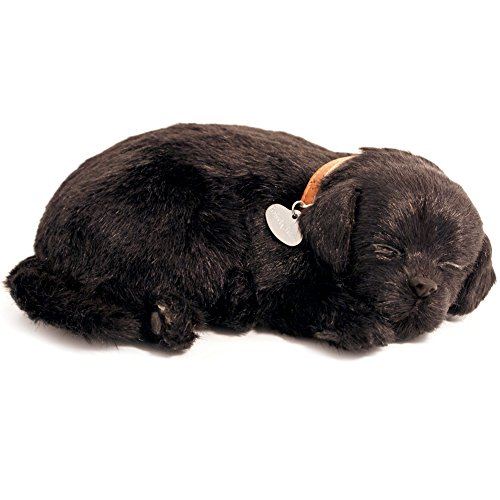 - 88 Unlimited Perfect Petzzz Black Labrador Breathing Puppy Dog Plush Set w/carrier, Bed
