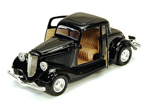 1934 Ford Coupe, Black - Motormax 73217 - 1/24 scale Diecast Model Toy - Diecast Toy Scale