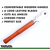 Professional Grade Glass Cutter Tool (HEAVY DUTY - 6 WAY CUTTING WHEEL) - Perfect for Cutting & Scoring Glass Bottles, Mirrors, Window Panes, Shelves, and More!