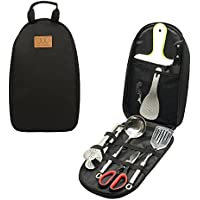 8Pcs Camping Cookware Kitchen Utensil Organizer Travel...