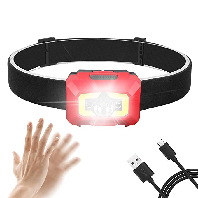 Hengzi LED-Scheinwerfer Bewegungsmelder Scheinwerfer USB-wiederaufladbare Scheinwerferleuchte