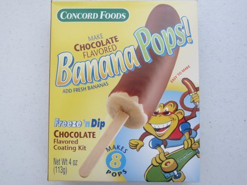 Chocolate Banana Pops Kit (Makes 8 Total Pops) by Concord Foods by Concord Foods