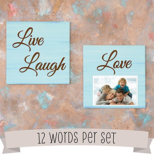 12 Word Stencil Kit - Paper Cut Outs for Crafts