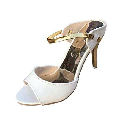 a39e62293780 Lolittas Glitter Sequin Sandal Court Shoes for Women Ladies, Summer Sparkly  High Stiletto Heel Slingback Open Toe Outdoor Size 2-7: Amazon.co.uk: Shoes  & ...
