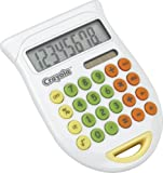 GPX Crayola YCEC1806 Colorful Calculator with Book Clip