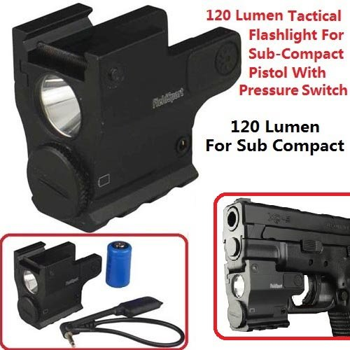 FieldSport-120-Lumen-Tactical-Micro-Flashlight-For-Sub-Compact-Picatinny-and-Weaver-Mount-With-Pressure-Switch