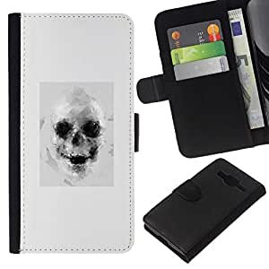 All Phone Most Case / Oferta Especial Cáscara Funda de cuero Monedero Cubierta de proteccion Caso / Wallet Case for Samsung Galaxy Core Prime // Drawing Tattoo Black White Art