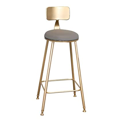 Incredible Amazon Com Barstools Nordic Gold Bar Chair Simple Household Dailytribune Chair Design For Home Dailytribuneorg