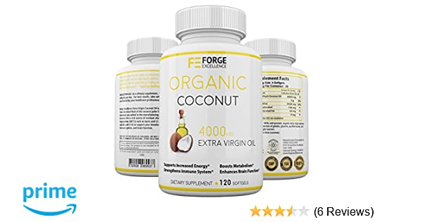 Amazon.com: Forge Excellence - Extra Virgin, Pure, Unrefined Coconut Oil Dietary Supplement - GMO Free & FDA Approved - Boosts Your Energy, Metabolism, ...
