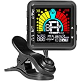 Rechargeable Guitar Tuner for All Instruments - with Guitar, Bass, Violin, Ukulele & Chromatic Tuning Modes, 2 in 1 Tuner & Metronome
