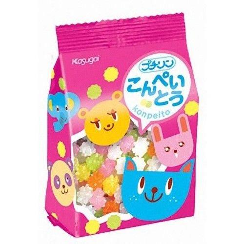 KASUGAI Japan-Mini Konpeito Plum Sugar Candy 50g x 5packs