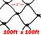 25'X50'/50'X50'/50'x100'/100'x100', Net Netting for Bird Poultry Aviary Chickens Game Pens (100' x 100')