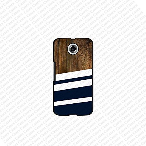 Krezy Case Google Nexus 6 Case, Stripe Pattern google nexus 6 case, Nexus 6 Case, Cute nexus 6 case, Cute Google nexus 6 case, nexus 6 cover (Not a real wood) (Nexus 6 Case Pattern)