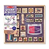 TOYS_AND_GAMES unisex-child Amazon, модель Melissa & Doug Stamp-a-Scene Stamp Pad: Fairy Garden - 20 Wooden Stamps, 5 Colored Pencils, and 2-Color Stamp Pad, артикул B0094RGB9E