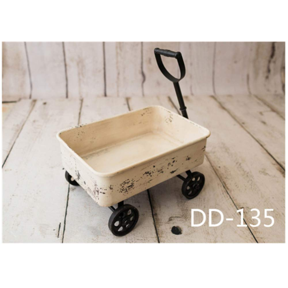 Dvotinst Newborn Photography Props Retro Posing Trolley Handcart Iron Mini Bus Fotografia Accessories Studio Shoot Photo Props (DD-135) by DVOTINST