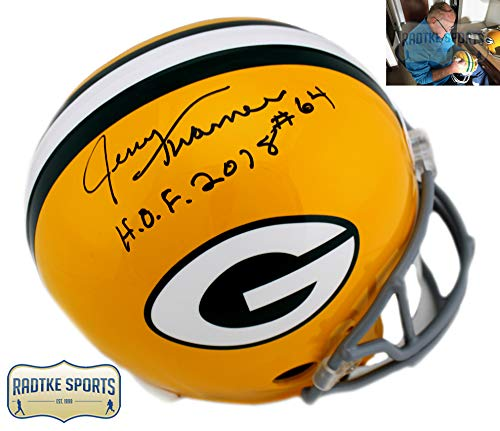 Jerry Kramer Autographed/Signed Green Bay Packers Throwback Full-Size NFL Helmet With