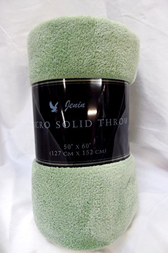 Gorgeous Home Small throw soft blanket Microplush Comfort Cozy fleece, 50 Inch x 60 inch, Sage Green (Fleece Sage)