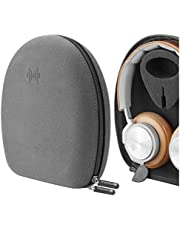 Geekria Microfiber Hardshell Headphones Case for Bang & OLUFSEN B&O H9, H9i, H8, H8i, BeoPlay H2, H6, H7 Headphone and More, Full Size Hard Shell Large Carrying Bag with Room for Accessories