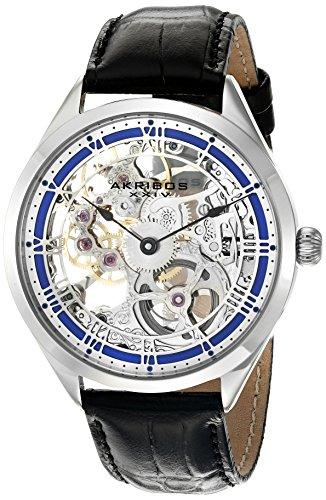 Akribos XXIV Amazon Exclusive Men's AK802BU Mechanical Hand Wind Black Watch