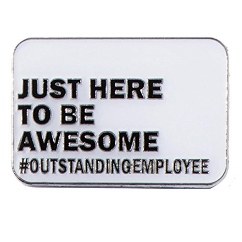 TCDesignerProducts Just Here to Be Awesome #Outstanding Appreciation Award Lapel Pins, 12 -