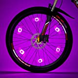 Willceal Bike Spoke Light 6PCS, Bike Wheel Light,Tyre Wire Right with 6 LED Flash Model Neon Lamps,Bike Safety Alarm Light. (Pink)