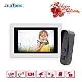JeaTone 7 Inch Intercom Door Station with Door Release Door Bell Camera Door Phone Intercom System 1 Camera 1 Monitor Video Door Phone Bell Kits support Monitoring, Unlock,IR Night Vision …