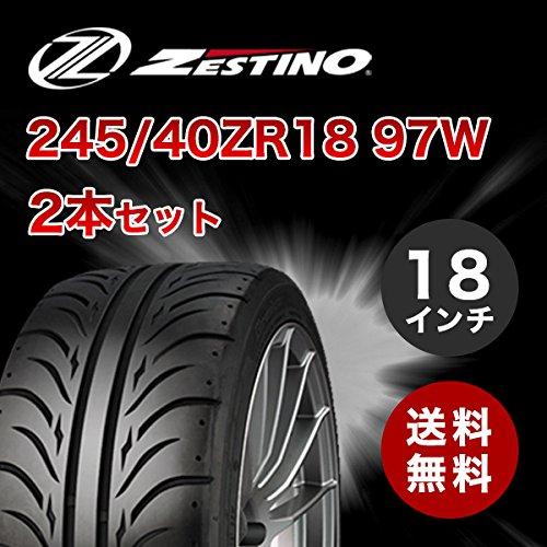 245/40ZR18 ゼスティノ グレッジ 07R 2本セット 245/40-18 新品タイヤ ZESTINO Gredge B077N5YFH6