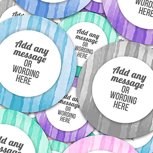 Gift Sticker Watercolor Stripes Personalized Sticker Labels (12 Stickers @ 2.5