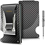 Carbon Fiber Wallet | RFID Blocking Front Pocket Wallet | Carbon Fiber Money Clip | Credit Card Holder for Men and Women | Business Card Holder | Mens Wallet | RFID Wallet | Metal Wallet | Money Clip
