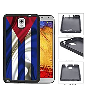 Cuban Flag With Wavy Creases Rubber Silicone TPU Cell Phone Case Samsung Galaxy Note 3 III N9000 N9002 N9005